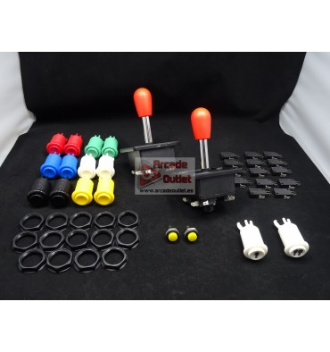 Bat Joysticks & 16 Arcade Buttons