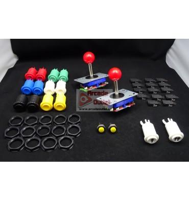 Kit Joysticks de Bola y 16 Botones