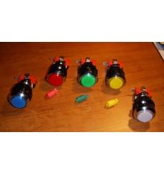 Botón Iluminado Cromado